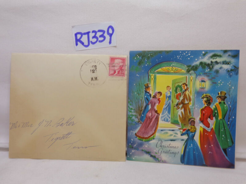 VINTAGE CHRISTMAS CARD+ENVELOPE 1940