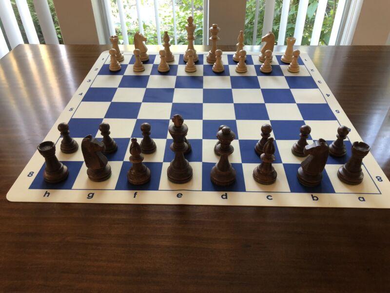 Staunton Wooden European Chess Set -Weighted,Felted,Tournament level