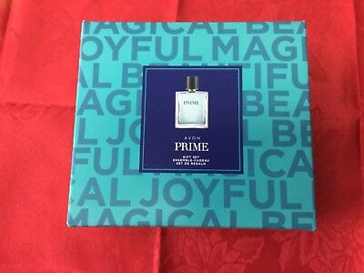 NEW! Men's Avon Prime Boxed Gift Set 3 pc $50 reg w/body wash & Shave con