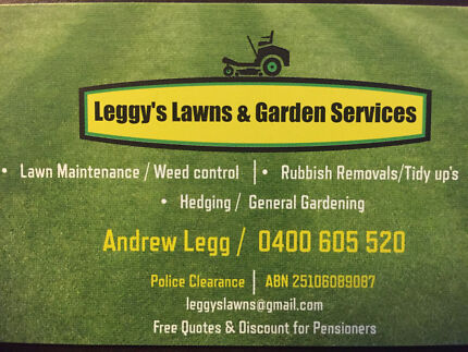 Leggy's Lawns & Garden Services Ridgewood Wanneroo Area Preview