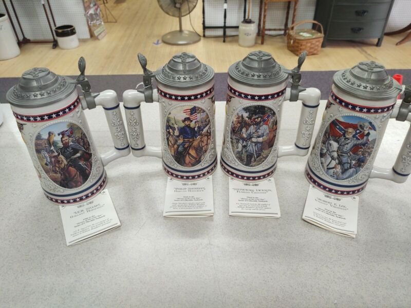 """""""Heroes Of The Civil War"""" Stein lot of 4"""