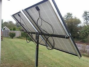 Universal solar panel pole mount kit, holds 2 large panels or 4 125 watt pan.