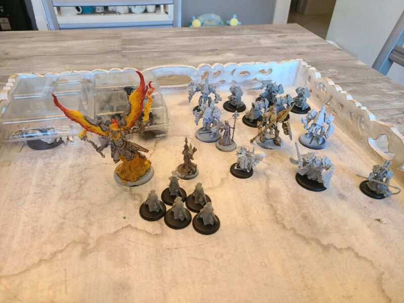 Warmachine Protectorate of Menoth lot Choir of Menoth, etc. Used