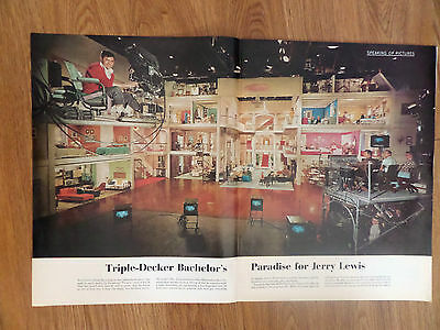 1961 Photo Article Ad Jerry Lewis Bachelors Paradise