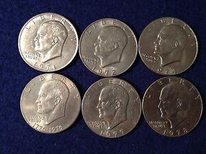 1971 1972 1974 1976 1977 1978 P or D Eisenhower -