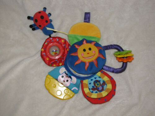 Baby Einstein Activity Toy Vintage Sun Teether Rattle Crinkle Flower Mouse Bird