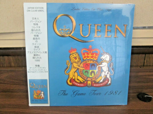 """Queen - The Game Tour 1981 12"""" vinyl - Limited Edition on Clear Vinyl"""