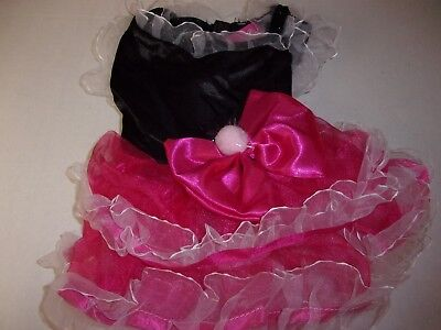 FANCY Pink RUFFLES Dog Dress S M New Puppy extra small Pet Accessories medium