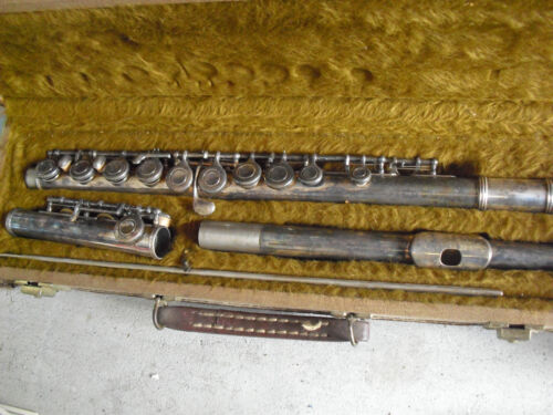 Vintage Yamaha YFL 24S Silver Plated Flute with Original Case Made in Japan