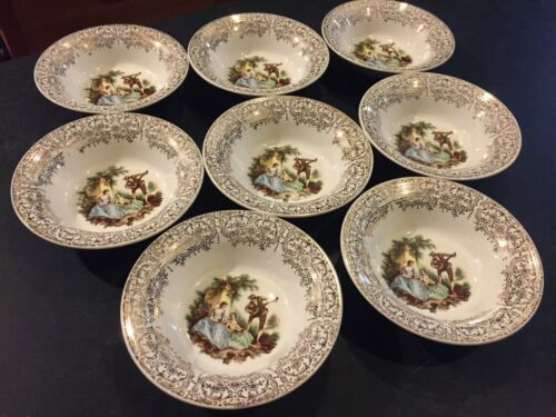 Vintage American Limoges Triumph China D'Or 22k gold bowls lute serenade