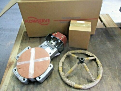 """FLOWSERVE / DURCO 8"""" STAINLESS BUTTERFLY VALVE, #3151042JW NIB"""