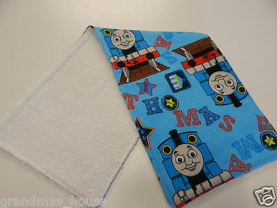 Thomas The Tank Engine Burp Cloth - 1 Only Towelling Back GREAT GIFT IDEA!!