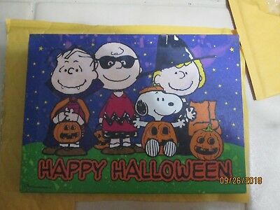 Happy Halloween Peanuts Charlie Brown, Snoopy Etc. Lighted Picture 11