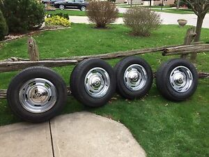 Corvette rally rims with tires