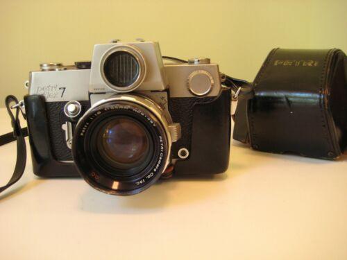 Petri Flex 7 Petriflex Vintage Camera 55mm F 1.8 Lens with Case