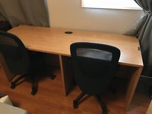 Desk with office chairs - Moving Sale