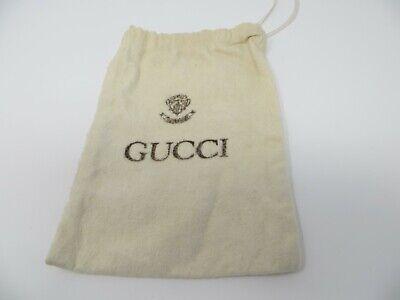 Authentic Vintage Gucci White Cotton Dust Bag Travel Storage Sleeper Pouch (M-1)
