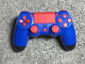Custom Red on Blue PS4 Sony Controller - EUC - $55