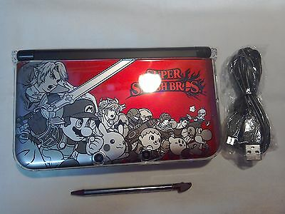 NINTENDO 3DS XL RED SUPER SMASH BROS WITH PRE-LOADEDGAME MARIO KART 7  £110