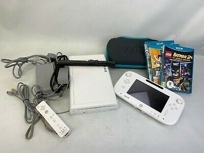 Wii U Console 8GB , All Wires, 3 Games #2090229