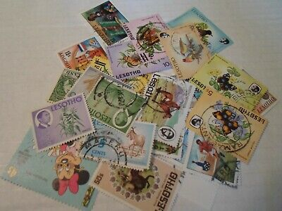 Collection lot 25 different stamps of Lesotho