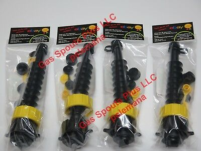 4 Gas Can Spout Kits W Screen Diesel Fuel Gsp Universal Heavy Duty 2 Collars Ea