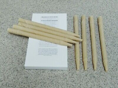 8 X High Quality Organic **Earwax** Candles Hollow Cylinder Beeswax Soy Wax Mix Candles Organic Soy Wax