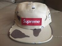 SUPREME LEATHER CLASSIC LOGO 6-PANEL CAP KELLEY GREEN SS17 2017 HAT