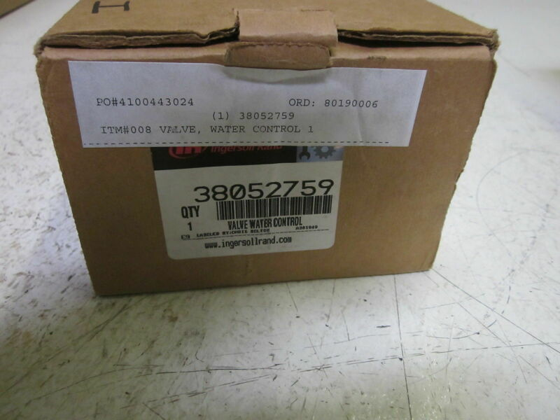 INGERSOLL RAND 38052759 VALVE WATER CONTROL *NEW IN BOX*