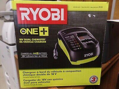 RYOBI Car Battery Charger 12V DC Outlet ONE+ 18-Volt Lithium-ion LED Lights