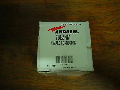 Qty. 1 Nib Andrew 78eznm N Male Connector - 60 Day Warranty