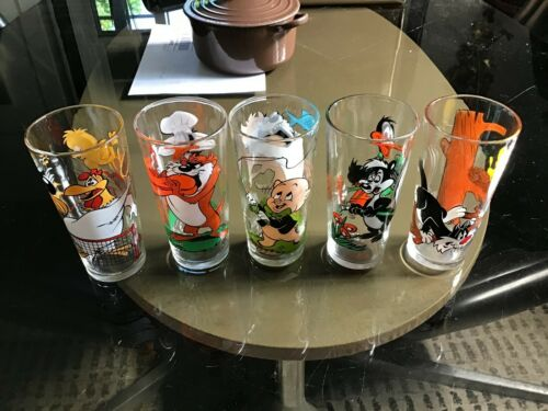 Lot of 6 Vintage 1976 Pepsi Collector Series Looney Tunes Tumbler Water Glasses