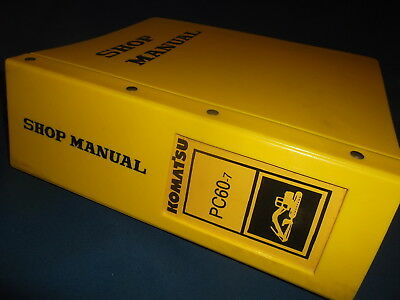 Komatsu Pc60-7 Excavator Service Shop Repair Book Manual Oem Original