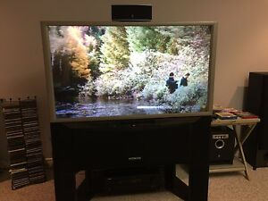 "Free 46"" HITACHI High Def Plasma TV & Stand"