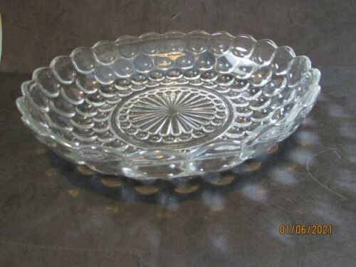 ANCHOR HOCKING BUBBLE GLASS SERVING BOWL