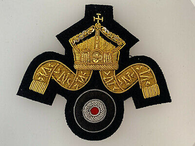 WW1 Imperial German Navy Kaisermarine U Boat POs wire cap wreath badge insignia  for sale  Shipping to United States