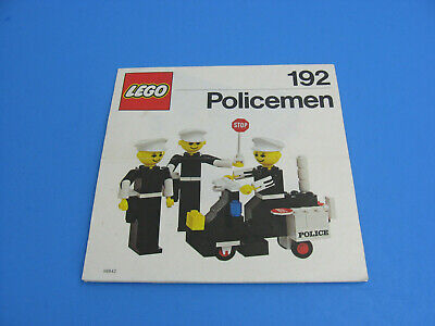 Vintage 1977 LEGO 192 Policemen Building Set with People - Instructions Only!
