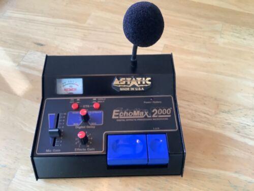 ASTATIC ECHOMAX 2000 BASE STATION MICROPHONE W/ DIGITAL ECHO, SLAPBACK, AND ETS