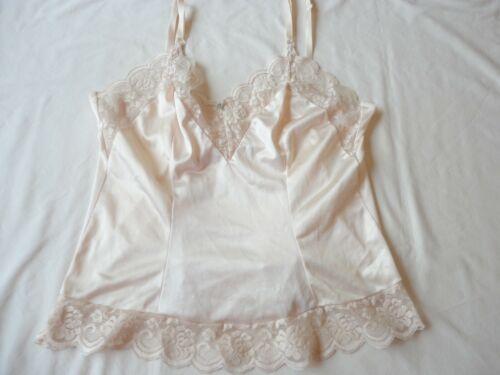 Vintage Camisole Lingerie Ivory Nylon with Lace Trim size 34