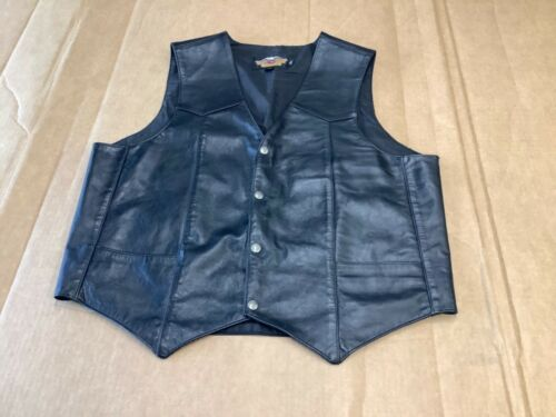 Harley Davidson Genuine Leather Mens Vest size XL