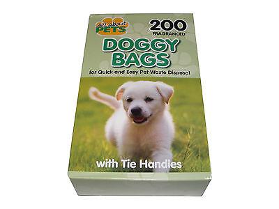 200 SCENTED FRAGRANCED DISPOSABLE DOG POO BAGS POOP SCOOP WASTE CLEAN UP SACKS