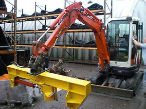 LOG SPLITTER ATTACHMENT FOR 2.5 TO 8 TONNE MINI DIGGER / EXCAVATOR