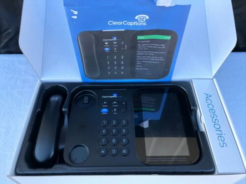 CLEAR CAPTIONS BLUE HEARING IMPAIRED ADVANCED CALL CAPTIONING HOME PHONE tested