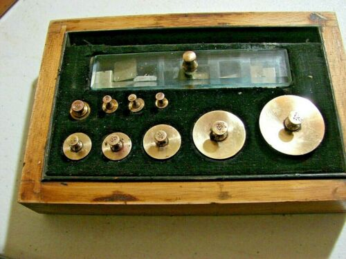 Vintage Brass Scale Weight Set