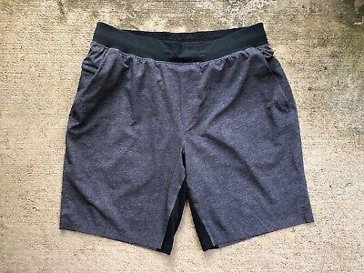 "Lululemon Men's T.H.E. Shorts Large 9"" Heather Grey Coal Linerless"