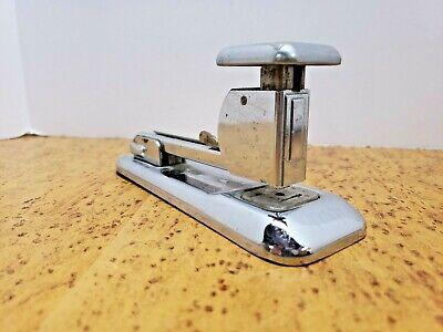 Vintage Industrial Machine Age Steampunk Deco Arrow 202 Desk Stapler Chrome