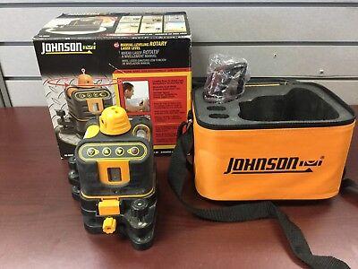 Johnson 40-6502 Manual-leveling Rotary Laser Level W Case Glasses