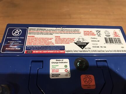Car Battery Nearly Brand New
