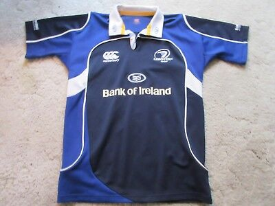 dc2a8836df7 CANTERBURY NEW ZEALAND LEINSTER RUGBY BANK OF IRELAND S/S SHIRT MEN'S LARGE