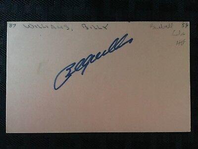 1959-76 HAND SIGNED CHICAGO CUBS/OAKLAND ATHLETICS MLB *BILLY WILLIAMS* JSA (Billy Williams Hand Signed)